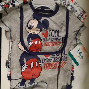 3pc Mickey Mouse onesie/bib set